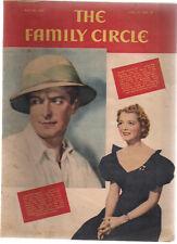 FAMILY CIRCLE magazine May 7, 1937 cartoons, Janet Gaynor, stamps