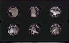 Birds of Australia Series $10 Silver Coins 1989-1994 Proof Set with Display box