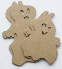 "{4} *SPOOKY GHOST*  Halloween Bare Chipboard Die Cuts - 2 Sizes - 3"" and 4"""