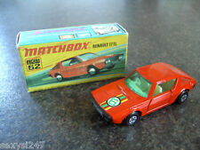 MATCHBOX SUPERFAST No 62 RENAULT 17 TL 1974 BOXED 100% COMPLETE V NICE
