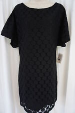 "Aidan Mattox Dress Sz 4 Black ""Shirt Lace dress"" Cocktail Retro Party Evening"