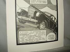 1938 Graham Model 97 Auto Pen Ink Hand Drawn Poster Automotive Museum Archive