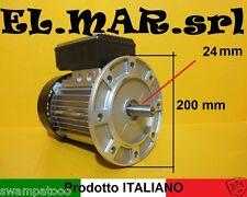 MOTORE ELETTRICO MONOFASE HP 1,5 kw 1,1 GIRI 1400 flangiato  B5 o B14