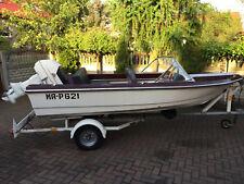Sportboot Motorboot mit Straßentrailer und Motor 40 PS