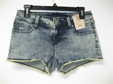 NEW Decree Acid Wash Denim Stretch Fringed Jean Shorts size 5 NWT