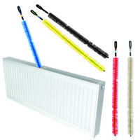 Radiator Brush Flexible Dust Cleaning Pole Bendy Long Reach Rod Grille Bristle