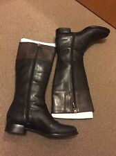 Ecco Knee High Zip Boots Black And Brown EU41 UK7.5/8