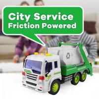Kids 1:16 City Garbage Collectible Sanitation Inertia Dump Truck Flash Car Toy