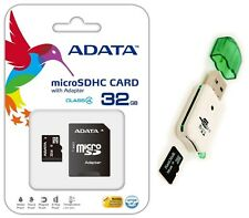 Adata 32GB Micro SD SDHC MicroSD Flash Memory with Adapter 32 GB+USB Card Reader