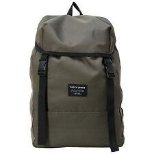 Jack & Jones JACROSS Unisex Mens Womens Adjustable School Retro Backpack Olive