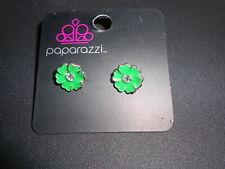 Kid's Earrings (new) FLOWER - GREEN HEART PETAL #7
