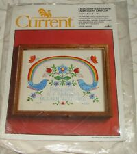 "Current Vintage ""Friendship Is A Rainbow"" Embroidery Sampler - New"