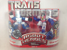 Transformers Movie Robot Heroes Mirage Starscream NEW MIB