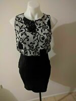 Dress with Black Bottom and Sparkly Silver Top Size 12 BNWT