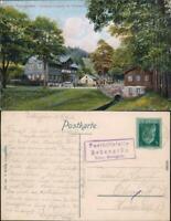Geroldsgrün Forsthaus Langenau b Hof Saale Ansichtskarte 1912