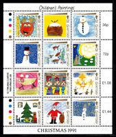 Guernsey 1991 Mi. 537-548 Kleinbogen 100% Postfrisch Weihnachten