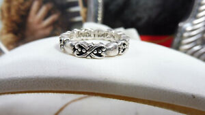 Gorgeous Vintage Sterling Silver Romantic Love Ring 925 Small Size L-M