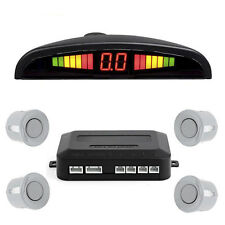 LED Display Car 4 Parking Sensor Reverse Audio Backup Radar Alarm System +Manual