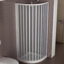 Cabina doccia angolare 80x80 box in acrilico semicircolare stondato reversibile