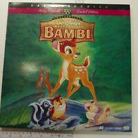 Disney Bambi: 55th Anniversary Limited Edition CAV Laser Disc LASERDISC