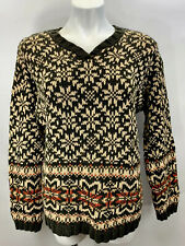 Abercrombie Fitch Authentic Sweater V Neck Pullover M Medium Vintage EUC