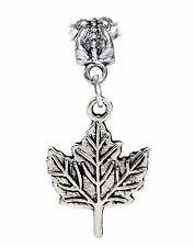 Maple Leaf Canada Canadian Hockey Tree Dangle Charm fits European Bead Bracelets
