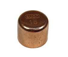 15mm End-feed Stop End Cap | Solder Plumbing Fitting For Copper Pipe | 4 Pack
