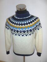 vintage Islandpullover islandpulli hippie Strickpullover 90er echte Wolle M