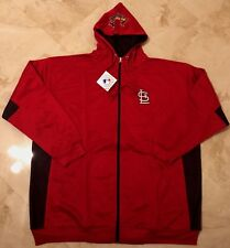 St Louis Cardinals Full Zip Hoodie 3XL Red Logo On Hood Embroidered Logos MLB