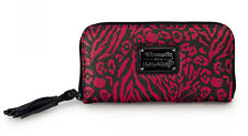 # New LOUNGEFLY HELLO KITTY Animal Print Wallet SANRIO Leopard Tassel BLACK PINK