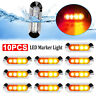 10 X Amber/Red Clearance Lights Side Marker 4 LED Truck Trailer Caravan 12V-24V