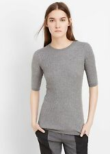 NWT VINCE RIBBED CREW NECK SWEATER PULLOVER, size L, GRAY, Msrp$225.00