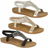 Ladies Low Wedge Fashion Summer Strappy Beach Sandals Gladiator Womens Shoes Siz