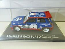 IXO Altaya 1:43 Scale Diecast Renault 5 Maxi Turbo Tour de Corse 1985 J.Ragnotti