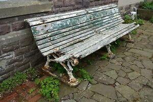 Original Taff Vale Railway Station Platform bench seat Pontypridd. Heavy Iron.