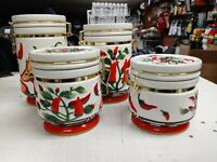 New Chili Pepper 4 Piece Airtight Canister Set 4 Chilli Peppers Canisters