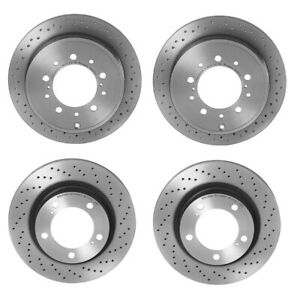 Brembo Xtra Front and Rear Drilled Brake Disc Rotors Kit For LX570 Land Cruiser