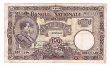 """100 Frank/Franc   type  """"1919""""  Nationale Reeks  19.10.1926     Morin 58c"""
