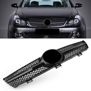 ABS 1 FIN Front Grille Grill For Mercedes Benz W219 CLS500 CLS Class 2004-2007