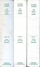 JULES JANIN - 753 LETTRES A SA FEMME. Mergier Bourdeix, 3 volumes 1973-79