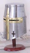Medieval Knights Armor Crusader Templar Sugarloaf fightr Helmet Handmade