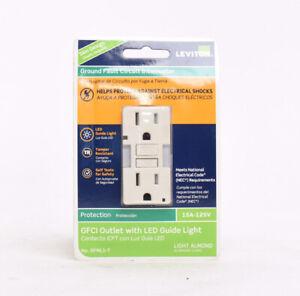 Leviton SmartlockPro GFCI Outlet 15 Amp Self Test Combo Duplex LED Light GFNL1-T