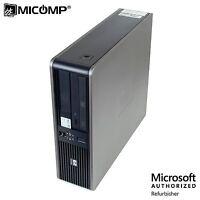 HP DC 7800 SFF Desktop PC Core 2 Duo 2.80Ghz 4GB 250GB DVD Win 10 Home 64 WIFI