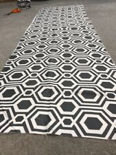 Grey white pattern soft blackout material remnant crafts fabric piece 160x50cm