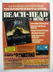 vintage game advert zx spectrum game amstrad game commodore 64 game BEACH HEAD