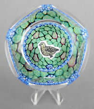 Whitefriars Glass LE Xmas 1979 Millefiori Paperweight 'Partridge In A Pear Tree'