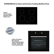 Everdure 60cm Built-in Oven and 60cm Ceramic Electric Touch Cooktop