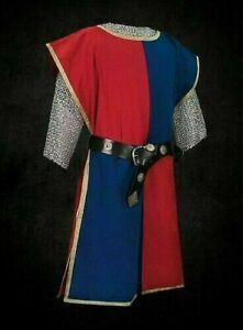 MEDIEVAL Knight Tunic 2 Colors Surcoat Sleeveless Renaissance LARP SCA