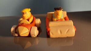 Vintage The Flintstones Fred  Flintstone BARNEY Toy Car Figure 1990 Denny's Toy