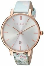 Ted Baker Kate Rose Gold Case Floral Leather Strap Ladies Watch TEC0025003 £135